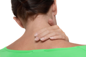 woman with neck pain Dr. Grant Salt Lake Chiro